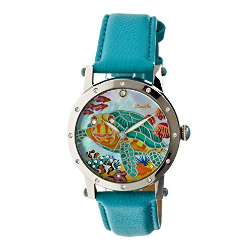 bertha-womens-bthbr4901-chelsea-mop-turquoise-multicolor-genuine-leather-strap-watch