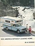 1966 Dodge Travco Freeway A100 Chinook Motorhome RV Pickup Brochure