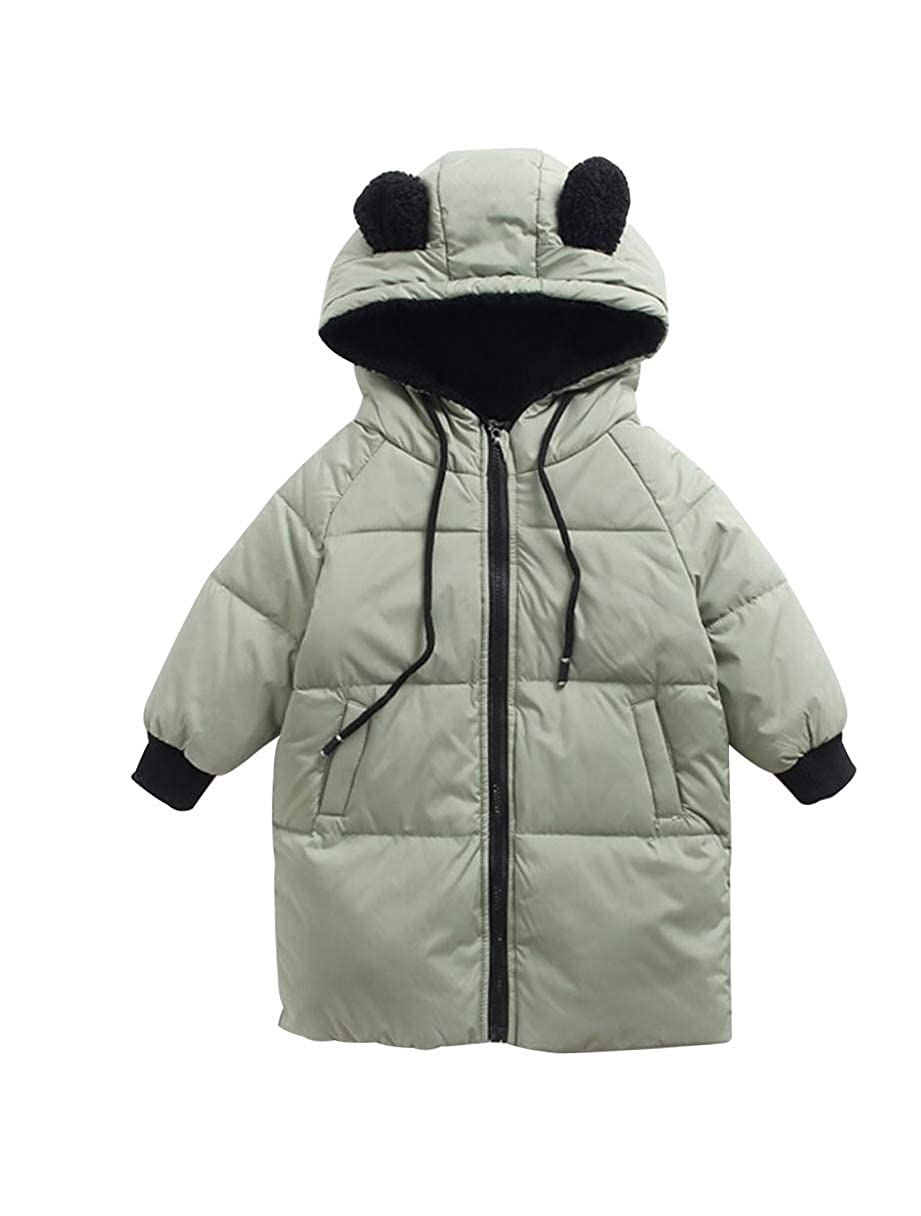 Jingle Bongala Kids' Boys' Girls' Winter Down Puffer Coats Long Parka Coats Ears Hooded Jackets