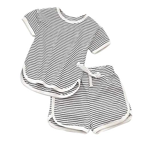 Unisex Baby Pajama Sets,Toddler Pajama Set Short Sleeve Sleepwear Boy Girl Pjs Cotton Loungewear Nightclothes Yamally (12-18 Months, 01-Gray) ()