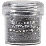 Ranger Embossing Powder Black Sparkle (4 Pack)