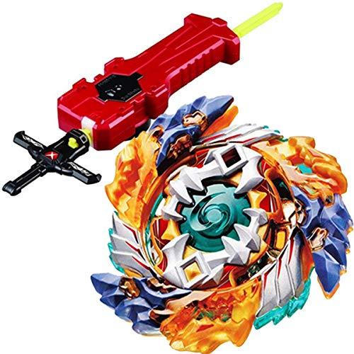 (Sword Launcher Bey Burst Blade Evolution Bey Battle Booster Starter Gyro Bay with Launcher Grip Kit B-122 Geist Fafnir. 8' Games Blades Bey Set Battling Tops Funny Novelty Spinning Toys Gift for Boys )