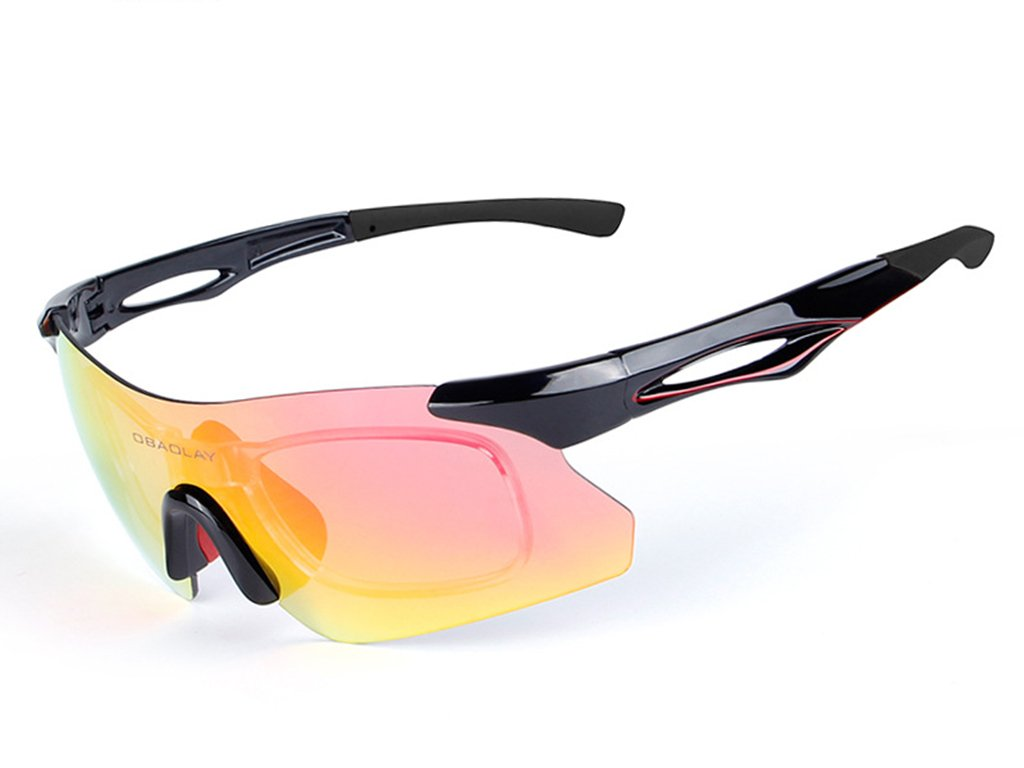 HJKLC Unisex Brille mit UV400 Ideal Verwendbar als Sonnenbrille Freizeitbrille Fahrradbrille oder Ski-Brille