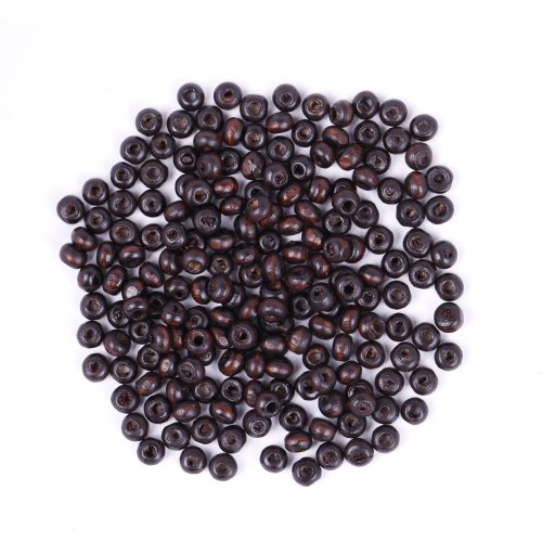 ILOVEDIY 1000pcs in Bulk Round Wood Seed Beads for Jewelry Making 4x3mm (Bulk Seed Beads)
