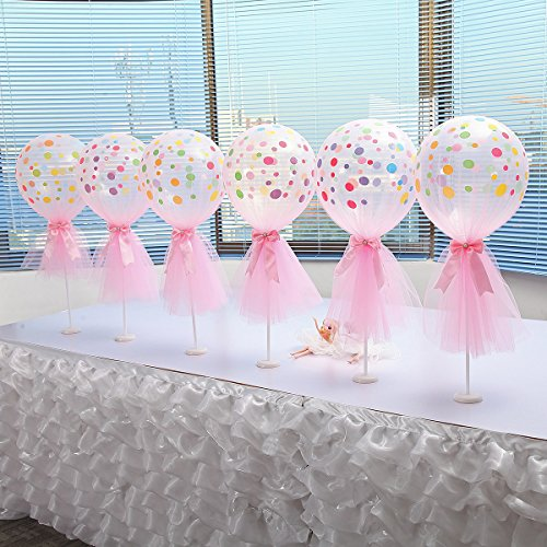 Suppromo 12 inch party latex balloons with column base kit for Baby shower decoration packs