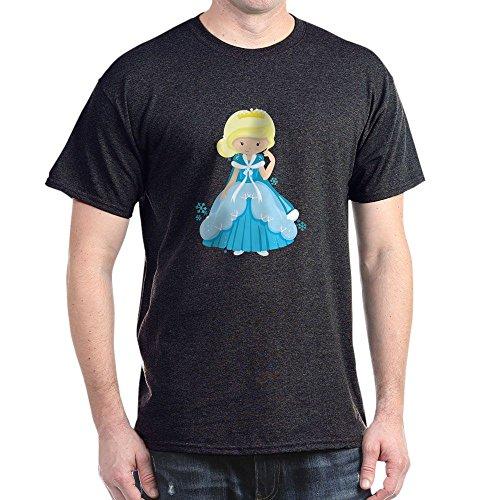 Royal Lion Dark T-Shirt Ice Princess Snowflake - Charcoal, 2X