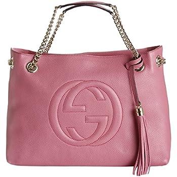 cc9957d407e Amazon.com  Gucci Soho Large Leather Chain Shoulder Handbag Pink ...