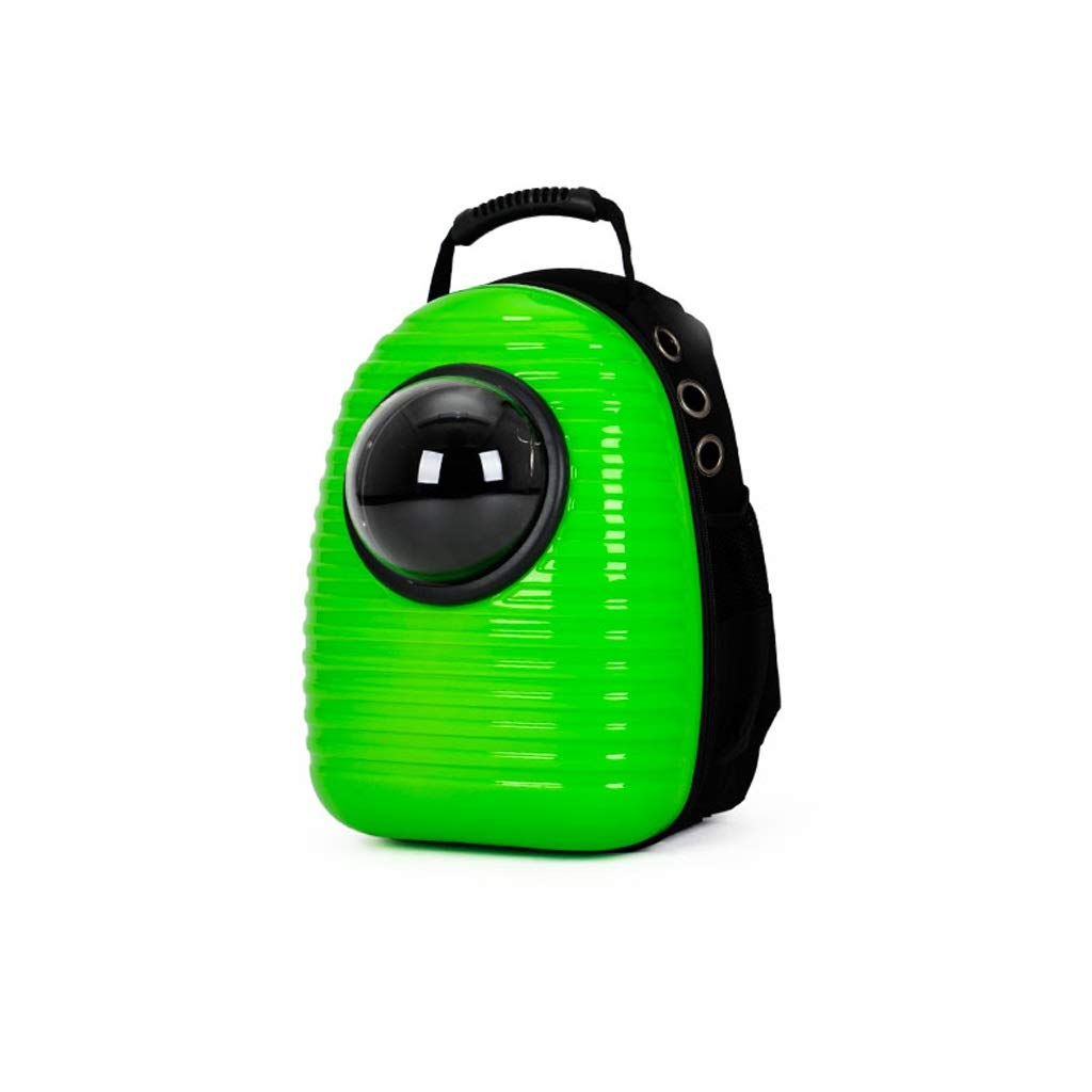 Green PETIN-Pet backpack Portable Pet Bag Cat Litter Cat Cage Portable Pet Tent Out Travel Hiking Camping Size 32  22  40cm (color   Green)