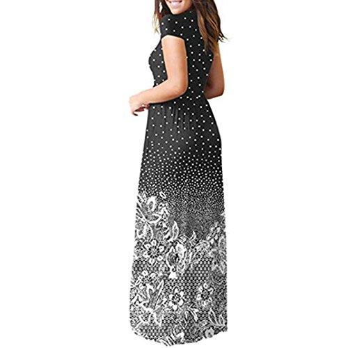 Rambling Popular Women's Sleeveless/Short Sleeve Maxi Dress Floral Print Causal Long Dress with Pocket by Rambling (Image #1)