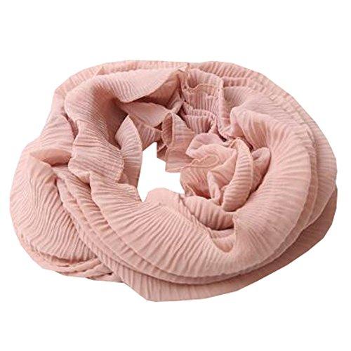 ハチ安全卒業女性の女性の暖かいソフトスカーフシフォンスカーフネッカーコフネックウォーマー、肌色