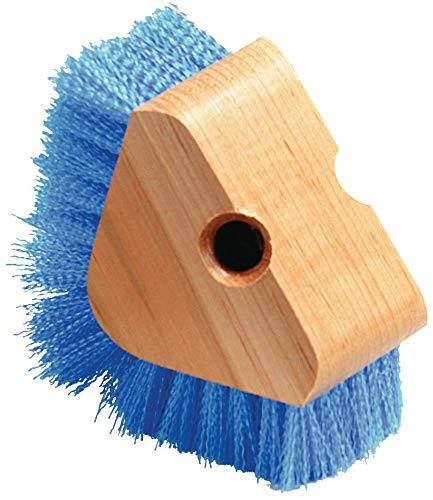 "Carlisle 36196614 Triangle Scrubber, Polypropylene Bristles, 5"" Brush Size, 1-1/8"" Bristle Trim, Blue"