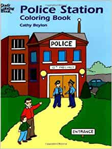 police station coloring book dover coloring books cathy