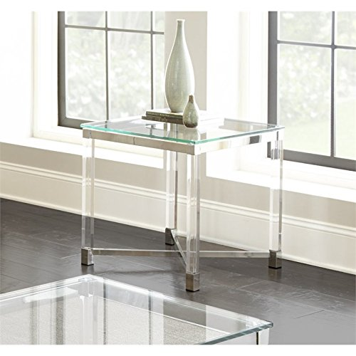Steve Silver End Table in Clear Finish
