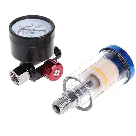 Teabelle Separador Aceite y Agua Pistola de Filtro de Presión de Aire en Línea Filtro de