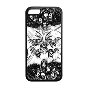 Protective TPU Rubber Coated Cell Phone Case Cover for iPhone 5C - A7X Avenged Sevenfold