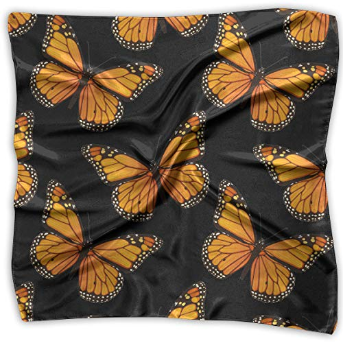 - Ladies Vintage Monarch Butterflies Art Pattern Print Square Handkerchiefs Bandanas Head & Neck Tie Scarf M