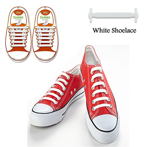 LattoGe No Tie Silicone Shoelaces Lace Lock Bands for Kids, Adults Athletic Running Shoe Laces,Seakers …