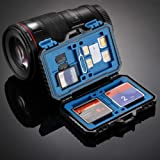 DoComer(TM) Memory Card Case Water-Resistant Anti-shock Holder Storage SD SDHC SDXC TF Black