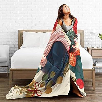 Novelty Fleece Bed Blankets, HeroAca Bnha Anime Tododeku Kawaii Deku Love Fanart Decorative Throw Blankets, Anti-Static Ultra Soft Cute Blanket for Kids Chair Bedding: Kitchen & Dining
