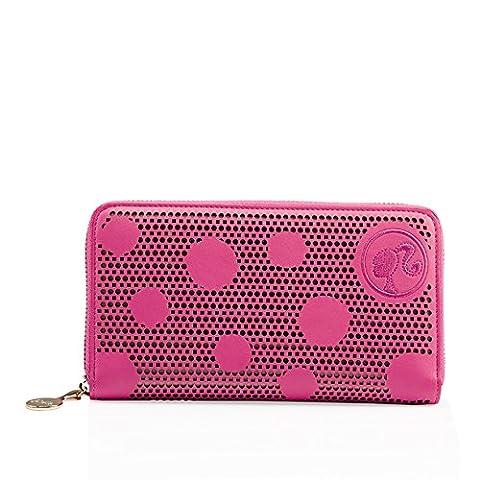 Barbie Retro Series Cute Dot Long-style Women Puese #BBPS005 (standard, rose)