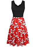 MOOSUNGEEK Fit and Flare Dress,Women's Vintage Floral Wedding Party Dress