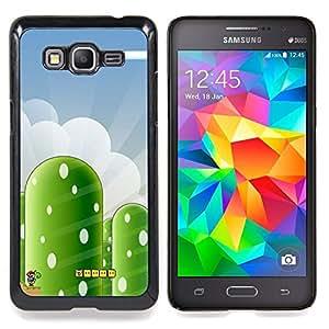 """Mario Yosh Nivel"""" - Metal de aluminio y de plástico duro Caja del teléfono - Negro - Samsung Galaxy Grand Prime G530F G530FZ G530Y G530H G530FZ/DS"""