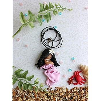 Mermaid with dark skin, girl pendant, Mermaid doll, Valentine's Day gift