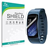 Samsung Gear Fit2 Screen Protector [8-PACK] [Military-Grade] RinoGear Gear Fit 2 Premium HD Invisible Clear Shield w/ Lifetime Replacements