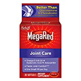 MegaRed Joint Care, 30 softgels - Omega 3 Krill Oil, Hyaluronic Acid and Astaxanthin Supplement