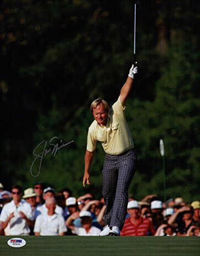 Autographed Jack Nicklaus Signed 1986 Masters 11x14 Photo - PSA/DNA Certified (1986 Nicklaus Autographed Jack Masters)