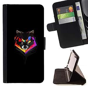 Momo Phone Case / Flip Funda de Cuero Case Cover - Geometría del arco iris del lobo;;;;;;;; - Sony Xperia Z5 Compact Z5 Mini (Not for Normal Z5)