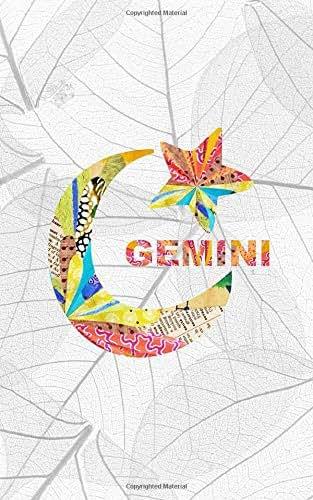 GEMINI: 5x8 journal : Happy Birthday May 21 to June 21 : Sun Sign Astrology Zodiac