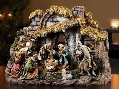 Christmas Decorations - HOLY Night 10-Piece Nativity Set