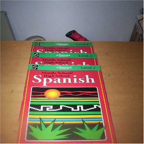 Homework Booklet: Middle School/High School Spanish (3 Books: Level 1, Level 2, and Level 3)