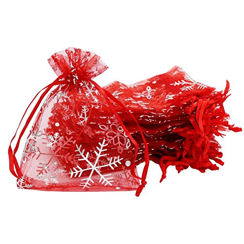 Bags Organza Gift Red (SumDirect 100Pcs 3.54