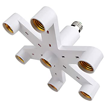 Amazon.com: OSAYES - Adaptador de 7 tomacorrientes de luz ...