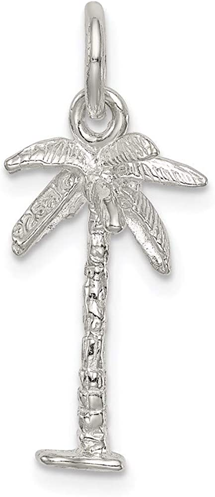 Sterling Silver Palm Tree Charm 20mm 10mm style QC977