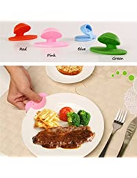 CheckOut 1pcs Candy Color Slip-resistant Microwave oven heat insulation Finger Dish holder with Magnet Oven Mitts Kitchen... lowestprice