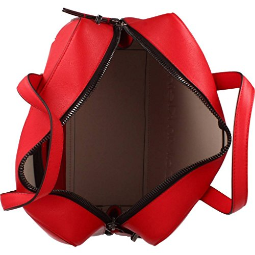 Shoppers Mujer Mujer Marca Hombro De Bolsos Color Duffle Y Klein Seasonal Modelo Rojo Rojo Para Calvin Klein Edge rCFqr