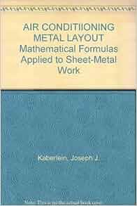 Air Conditiioning Metal Layout Mathematical Formulas