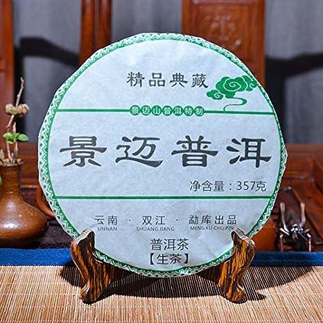 2012 Yr Raw Pu'er Tea Chinese Yunana Menghai Shen Pu'er Special Green Organic Pu-erh Tea Cake 357g For Lose Weight Health Food