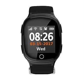 Reloj GPS Seguimiento de seguridad por wifi Rastreador de SmartWatch para ancianos Niños Adolescentes Autismo Alzheimer Localizador personal de GPS SOS ...