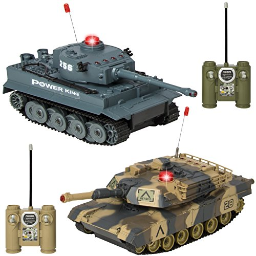 RC Battling Tanks Set of 2 Full Size Infrared Radio Remote Control Battle Tanks Perfect Gift ()