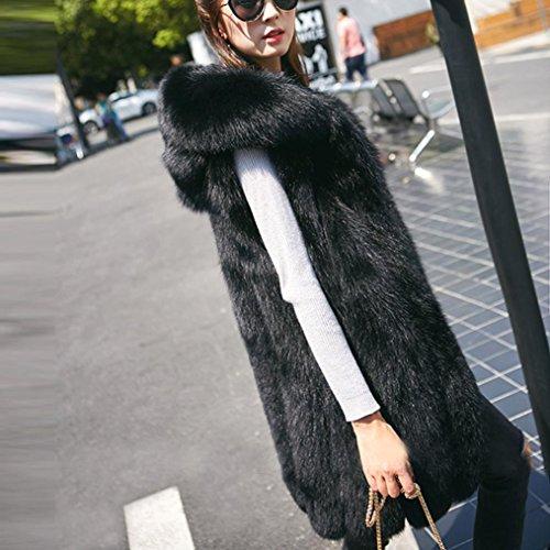 Gilet Hooded Hoodies 8 HOMEBABY Fur Jacket Coat Warm Sleeveless Black Size Outwear Waistcoat Winter Women 20 Cardigan Vest Girls Fluffy Faux Gilets Body Rqn7Ra6