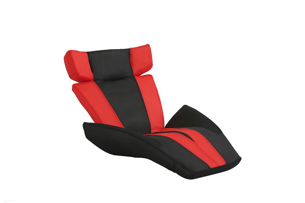 デザイン座椅子【GLAN DELTA MANBO-グランデルタマンボウ】(一人掛け 日本製 マンボウ デザイナー)レッド B01JI9SGMW レッド