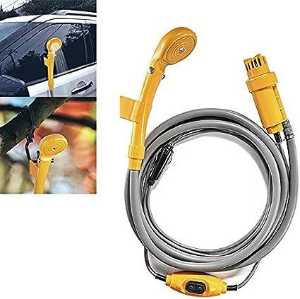 Ducha Portatil 12v Rociador Pistola para Ducha al Aire Libre Auto Jardín Perro Acampada Coche: Amazon.es: Coche y moto