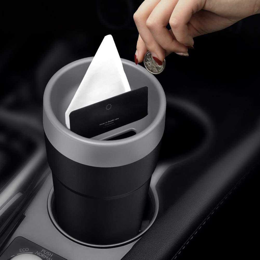 Red B5645ells Auto Vehicle Interior Garbage Trash Can Tissue Mini Ashtray Storage Organizer