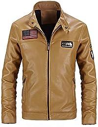 Mens Winter Pure Color Zipper Stand Collar Baseball Coat Cotton Outwear Tops