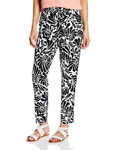 Comma, Pantalones para Mujer Mehrfarbig (grey/black AOP 99B5)