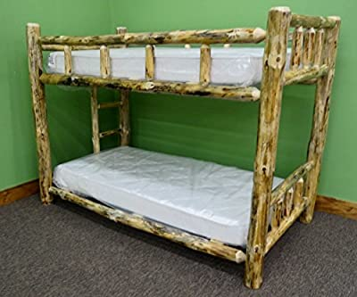 Midwest Log Furniture - Rustic Log Bunkbed - Queen